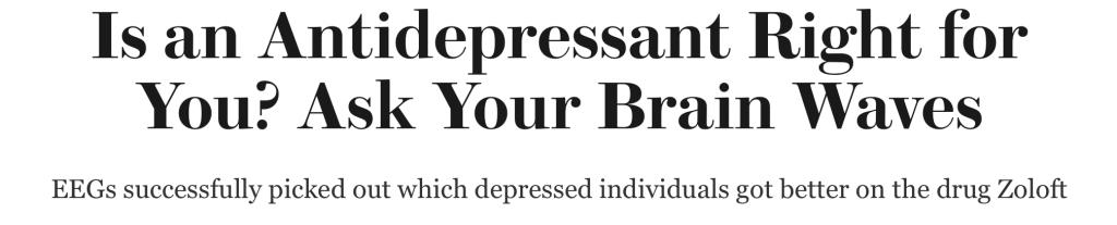 anti-depressant breakthrough scientific american